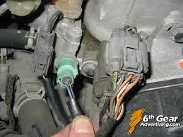 oil pressure sensor switch help wiring honda tech vtec solenoid is the green yellow wire on the left oil pressure switch is the black and blue wires the thumb on them