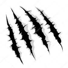 когти царапают на белом фоне стоковая иллюстрация 61684961
