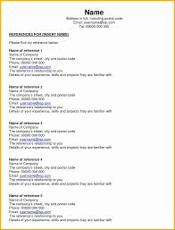 Resume Reference Page Format Roddyschrock Com