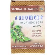 Auromere, Ayurvedic Soap, with Neem, Sandal-Turmeric, 2.75 oz (78 g ...