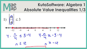 kuta algebra 1 absolute value inequalities part 1