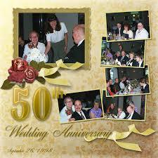 Scrapbooking 50th Wedding Anniversary Layout