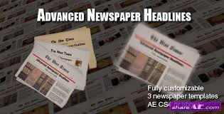 Newspaper Template After Effects Free Advanced Newspaper Headlines After Effects Project Videohive