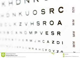 20 20 Vision Chart 20 20 Eye Chart Test A In Focus Stock Photo Image Of