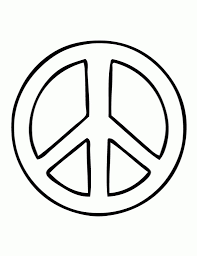 Small Picture Peace Sign Coloring Pages Printable Az Coloring Pages throughout