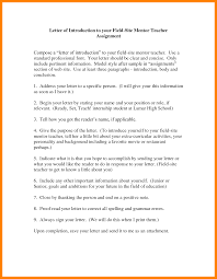 7 Introduction Letter To Mentor Teacher Introduction Letter