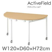conference training meeting table active field folding table round type anchor leg width 120 x 60 cm