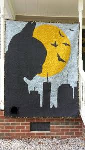 My friends like batman, so I made a bat quilt for their little bat ... & Back of batman quilt Adamdwight.com