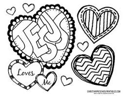 Jesus Loves Me Valentine Coloring Pages Printable Coloring Page