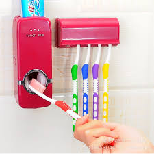 <b>Automatic</b> Toothpaste dispenser squeezer toothbrush holder ...