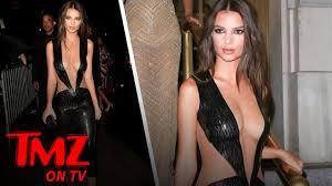 See Thru Tv Model Emily Ratajkowskis Titillating In Black Tmz Tv Youtube