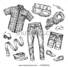 fashion boots drawing. fashion. vector collection of men clothing. hand-drawn sketch shirt, jacket, fashion boots drawing