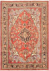 persian hamadan 7 0 x 10 2 hand knotted rug in red