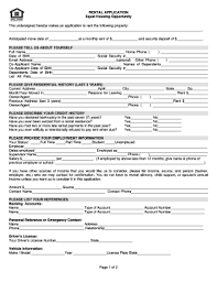 Rental References Form 50 Printable Lease Application Template Forms Fillable Samples In