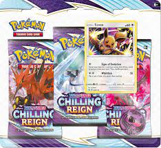 Buy Pokémon Chilling Reign Eevee 3 Pack Blister (10 cards in each blister)  English, The Pokémon Company