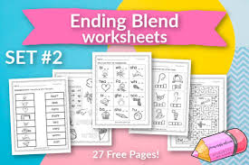 However, now students are asked to write the sounds of each word as well as read and color the image. Ending Blend Worksheets Set 2 Free Word Work