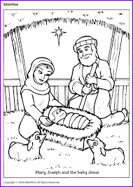 You can keep your child occupied during the christmas season while you decorate the house and prepare dinner for the this coloring sheet features baby jesus lying in the manger. Coloring Mary Joseph And The Baby Jesus Kids Korner Biblewise Nativity Coloring Pages Jesus Coloring Pages Nativity Coloring