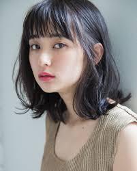 黒髪ミディアムパーマは万能スタイル Hachibachi
