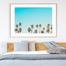 blue california dreaming printed wall