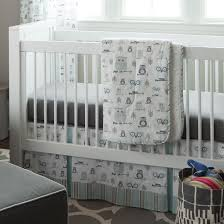 adorable owl baby quilt style crib bedding gray grey nursery pink and sets boy cot set