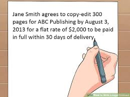 how to write up a contract for payment lawyer approved advice on how to write a legal contract wikihow