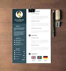 Free Cool Resume Templates Extraordinary Cool Resume Template Free Ai Simple Cv Design Template Resume