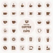 Coronavirus , lockdown , cricut svg , bunny , easter , svg cut file. Vector Coffee Cup Icons Desain Minuman Kopi
