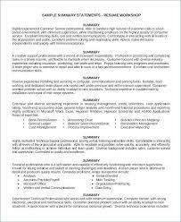Customer Service Description For Resume Retail Job Description For