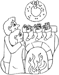 Printable Christmas Coloring Page Mom And Dad By Fireplace Swifteus
