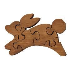 wooden educational jig saw puzzle jack rabbit