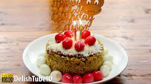 Resep Kreatif Kue Tart Indomie Youtube