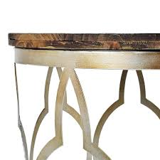 round side tables gray gold with distressed wood top table eileen grey set of 2