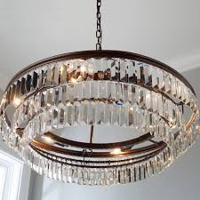 chandelier prism prism faceted glass layered chandelier shades of light