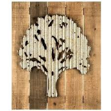 metal tree on wood pallet wall decor wooden art carved