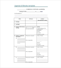 Free Agenda Samples Beauteous 48 School Agenda Templates Free Sample Example Format Download Middle