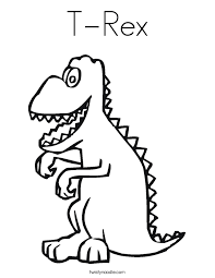 Small Picture T Rex Coloring Page Twisty Noodle