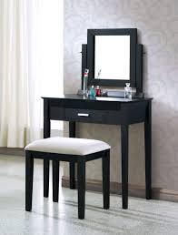 Small Vanity Table For Bedroom Small Black Vanity Table With Drawers Mixed Abstract Pattern