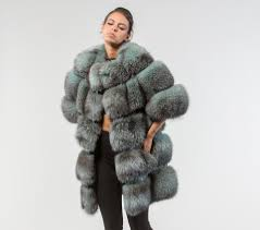 light green fox fur jacket