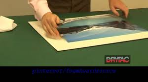 Photo & Poster Mounting using Self Adhesive Foamboard how to instructional  video - YouTube