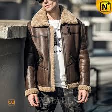 black friday 2018 cwmalls new york brown sheepskin flight jacket cw808309 custom made