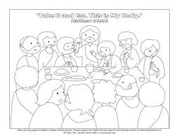 Small Picture Happy SaintsLast supper coloring page RE Pinterest Sunday