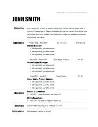 Free Resume Templates Google