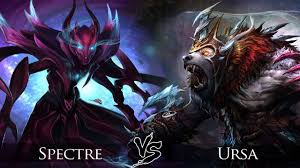 dota 2 spectre vs ursa one click battle youtube