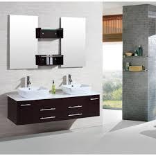 Brown Bathroom Accessories Bathroom Design Bathroom Large Dark Brown White Wooden Floating