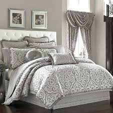 comforter set silver bedding king size and black