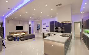 Kitchen And Living Room Living Room Contemporary Living Room Lighting Design Living Room