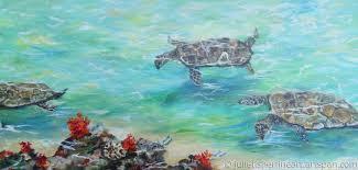 sea turtles 1 by julie fisher s fine art
