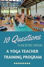 a yoga teacher training