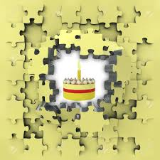 Puzzle Cake Designs Stock Illustration
