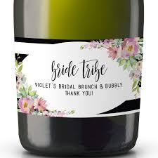 Wine And Design Bachelorette Party Amazon Com Bride Tribe Mini Champagne Bottle Label For